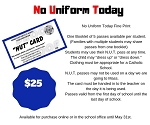 NUT Card - NO Uniform Today Cards